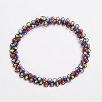 ingrosso pendenti colorati del branello-2016 nuovi accessori moda multicolore perline tatuaggio choker collana elastica pendente grunge resina regalo di festival