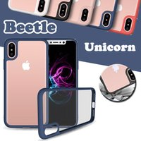 Wholesale unicorn beetle iphone plus online – custom Unicorn Beetle Camera Lens Protection Transparent Slim Soft TPU Cover Case For iPhone XS Max XR X S Plus Samsung Galaxy Note S8