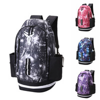 Wholesale leather black backpack online - New Kobe Backpack Fashion Brand Mens Womens Designer Bags Universe Starry Sky Backpack Black Lightning Students Bags