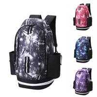 Wholesale backpacks online - New Kobe Backpack Luxury Brands Mens Womens Designer Bags Universe Starry Sky Backpack Black Lightning Students Bags