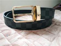 ingrosso spilla di marche-Cinture da uomo e da donna alla moda marchio di lusso oro e argento spilla cintura per il tempo libero affari nero caffè cintura a quadri