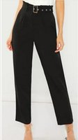 kano geniş bacak pantolon toptan satış-Geniş bacak pantolon kadın bahar ve yaz yeni Kore versiyonu basit yüksek bel düz Ince eğlence Pilili rahat pantolon ile kemer