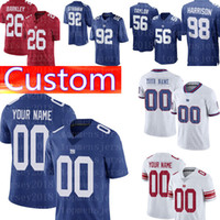 manzana personalizada al por mayor-Camisetas de fútbol personalizadas de los New York Giants 92 Strahan 98 Harrison 87 Shepard 24 Apple 88 Engram 20 Jenkins 90 Jerseys Pierre-Paul Jernigan