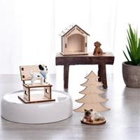 Wholesale build wooden house online - Micro Landscape Cat Kennel PVC Assemble Pet House Wooden Kids Toys For Children Education New Hot Sale sr D1