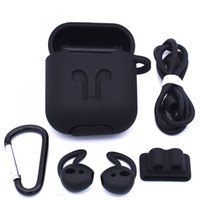 Wholesale wire pouch for sale - Group buy In Stock Silicone Case Cover Earphone Pouch Protective Skin Anti lost Wire Eartips Wireless Earphone Case for Apple AirPods