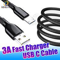 ingrosso imballaggio della scatola di data-Micro USB ad alta velocità cavo di ricarica per Android Cellulari 1m 3 piedi Tipo C 3A Quick Charger Power Data Wire izeso Cord