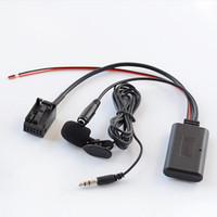 Wholesale hands free microphone for cars resale online - Biurlink Version Bluetooth Aux Cable Microphone Hands free Phone Call Adapter For X3 X5 Z4 E83 E85 E86 E39 E53 car