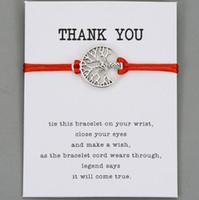 bracelets à tresser les couples achat en gros de-Chanceux arbre de la vie chaîne rouge souhait bracelet pour femmes hommes enfants corde réglable tressé Bracelet maman fille couple cadeau