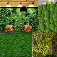 ingrosso piante artificiali da giardino pendenti-100 x 100 cm micro paesaggio appendere muschio artificiale erba prato tappeto erboso fai da te mini fata piante da giardino decorazione della parete di casa
