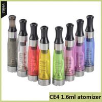elektronik sigaralar ego t cartomizer toptan satış-CE4 1.6 ml atomizer cartomizer Elektronik Sigara 510 ego-CE4 ego t, e sigara için tüm çiğ ego serisi CE5 CE6 Clearomizer