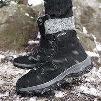 Wholesale black ankle boots for men for sale - Group buy Men Winter Shoes For Men Boots Fashion Winter Sneakers Snow Boots Plus Size Ankle Botines Hombre Gray Black Mans Footwear