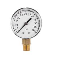 t filtro venda por atacado-TS-50-4 medidor de pressão 0-4Bar 0-60Psi Prática Pool Spa Pressão Filtro de Água Medidor Side Mount 1/4 de polegada tubulação de rosca NPT