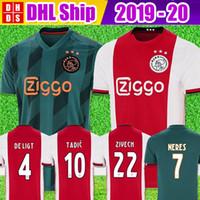 ücretsiz gönderim erkekler futbol formaları toptan satış-DHL Ücretsiz Nakliye 19 20 AJAX FC futbol formaları DE JONG TADIC DE LIGT ZIYECH VAN BEEK NERES ERKEKLER ÇOCUKLAR 2019 2020 Hollanda futbol takımı gömlek