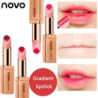 Wholesale two lipsticks online - Brand Novo Style Two Color Lips Tint Lipstick Lasting Waterproof Lip Balm Nourishing Cosmetics Waterproof Lip Gloss