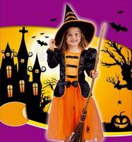 kızlar için sindirella tarzı elbiseler toptan satış-8 Stilleri çocuklar Kız Korsan Cadı mor peri Külkedisi prenses elbise kostümleri Cadılar Bayramı cosplay bebek performans giyim parti elbise C878