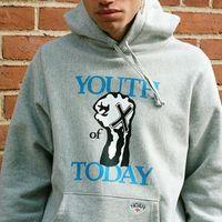 kadın punk sweatshirt toptan satış-Bugünün 19FW Gençlik Logosu Hoodies Noah X Hardcore Punk Bant Kapüşonlu Kazak Hip Hop Sokak Kazak Hoodie Erkek Kadın Dış Giyim HFYMWY255