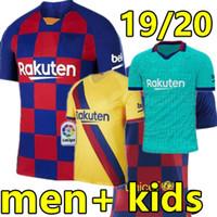 camiseta de fútbol 4xl al por mayor-19 20 camiseta de fútbol Barcelona 2019 2020 fc HOME Y AWAY #17 GRIEZMANN #21 F.DE JONG Hombre y niños jersey barcelona camiseta de fútbol messi maillot de foot kids jersey