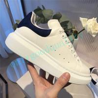 tops de couro branco venda por atacado-2019 luxo mens moda feminina sapatos de plataforma de couro branco de alta qualidade sapatos de grife de couro genuíno sapatilha flat casual shoes tamanho 35-46