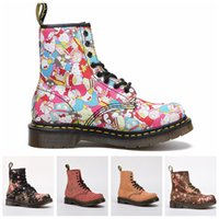 Wholesale high heel boots mens for sale - Group buy 2019 High Quality UK Classic Martin Boots Outdoor Boots Ankle Winter Snow Boots peony cartoon Women Mens Fashion Designer Shoes