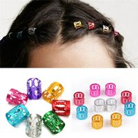 Wholesale hair beads for braiding for sale - Group buy 100pcs mm Mixed Color Dreadlock Beads Adjustable Hair Braid Rings Cuff Clips Tube For Hair Extension Jewelry Decor