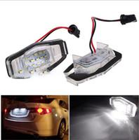 Wholesale civic lights for sale - Group buy 2pcs led License Number Plate Light Lamp V LED Light fit For Civic VII4 D City D Legend Accord D KKA6752