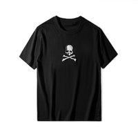 marcas de vestuário japão venda por atacado-Verão designer de moda marca homens roupas mastermind japão MMJ crânio esqueleto bordado t-shirt camiseta top tee algodão casual mulheres camiseta