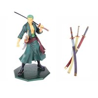 Wholesale old knives resale online - ONEPIECE Roronoa Zoro Three Knives Cartoon Classic Decoration Toys Gift Animiation Dolls Toys Action Toy Figures