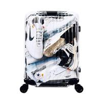 chariot à valises 24 pouces achat en gros de-Nouvelle valise transparente, boîte d'embarquement de 20