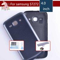 batería para galaxy ace al por mayor-Para Samsung Galaxy Ace S7270 3 7270 7272 Chasis S7272 batería de la cubierta de la puerta trasera de nuevo caso de la Vivienda