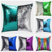 Wholesale meijuner for sale - Group buy Meijuner DIY Mermaid Sequin Cushion Cover Magical Throw Pillowcase X40cm Color Changing Reversible Pillow Case For Home Decor