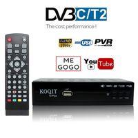 dvb t2 tv caixa venda por atacado-HD DVB-C Receptor DVB-T2 Satélite Wifi Caixa de TV Digital Livre DVB T2 DVBT2 Sintonizador DVB C IPTV M3u Youtube Russo Manual Set Top Box