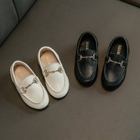 Wholesale loafers shoes for boys resale online - Boys loafers kids shoes for girls Solid color PU for party Wedding child flat casual shoe toddle baby shoes new fashion jongens