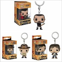 Wholesale walking dead figures for sale - Group buy Funko Pop Keychain The Walking Dead Action Figures Anime Collection Doll kids Toys Movie Anime Key chain Keyring Kid Toy design lol