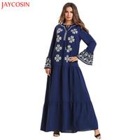 исламская одежда джилбаб абая оптовых-JAYCOSIN Muslim woman dress MyBatua Abaya plus size caftan Printed Jilbab Islamic Clothing Maxi Muslim Dress Hot Sale Vestido z4