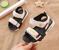herbst sandalen großhandel-2019 Luxus Schuhe Sehne Sandalsbee gestickte Jungen und Mädchen Sandalen Frühling und Herbst Kinder Geschenke versandkostenfrei 419