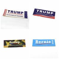 bayrak çıkartmaları toptan satış-Ev Amerikan Bayrağı Çıkartmalar TRUMP 2020 Sticker Komik Tampon Vinil Çıkartması Su Geçirmez Araba Styling Aksesuarları Yenilik Öğeleri 10 * 3.5 cm 6008