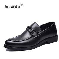 spitzen männer schuh großhandel-Jack willden frühling herbst männer formale hochzeit schuhe luxus männer business dress schuhe müßiggänger spitzen
