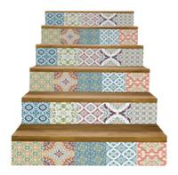 etapas de adesivos venda por atacado-6 pçs / set diy 3d degraus escada adesivo decadência adesivos decalques para sala de estar decoração