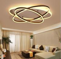 Modern Ceiling Lights LED Ellipse Rings Chandelier Iron Body Lighting For Living Room Dining Room Home Decor Fixtures