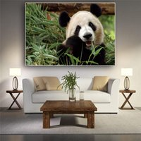 Wholesale painting bamboo walls resale online - Bamboo Panda Bear Animal Animal Canvas Painting Posters and Prints Scandinavian Wall Art Picture for Living Room Nordic Decor