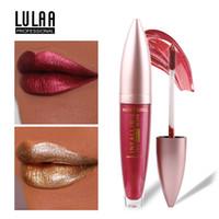 Wholesale bright lipstick resale online - LULAA Color Lip Gloss Glaze Chameleon Bright Flash Pearlescent Bright Moisturizing Lipstick Pigment Liquid Glitter