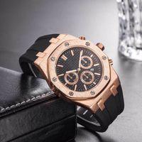 senhoras relógios mecânicos venda por atacado-Marca Mens Relógios Mecânicos Royal Oak alta qualidade Luxur Cristal Silicone cinta Designer Assista Ladies Man mulheres do relógio Casual 10 styl 8