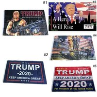 hausfahnen groihandel-Fashion Trump 2020 Flag 90 * 150CM Klassisches Donald Keep America Große Digitale USA Banner Home Party Decor TTA1480 Drucken