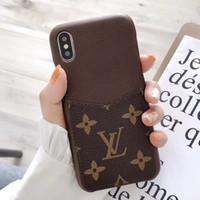 ingrosso supporto di carta duro dell'involucro di iphone-Custodia per telefono di lusso ufficiale di sincronizzazione più recente per IPhone X Xs Xr Xs max Custodia in pelle per iPhone