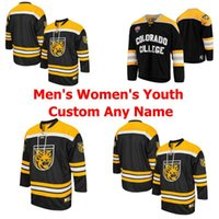 Wholesale NCAA Colorado College Tigers Jerseys Mens Womens Youth Kids Jersey White Black Yellow Ice Hockey Jerseys Custom Any Name Number Stichedt