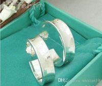 brincos de prata de luxo venda por atacado-925 designer de brincos de luxo designer de jóias mulheres brinco des boucles oreilles carrinho de amor da marca hoop 925 sterling silver orecchini