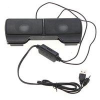 barra de som do laptop venda por atacado-Plextone 1 Par Mini Portátil Clipon Usb Alto-falantes Estéreo Controlador de Linha Soundbar Para Laptop Mp3 Telefone Music Player Pc Com Clipe