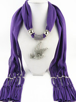 Wholesale scarf animal necklace online - New Design Animal peace dove statement jewelry scarf necklace for women fashion Luxury Charms accessories scarf necklace gifts