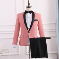 en iyi erkekler resmi takım elbiseleri toptan satış-Blazer erkek damat takım elbise pantolon ile set En İyi adam törenlerin ustası mens düğün takımları kostüm şarkıcı sahne giyim resmi elbise
