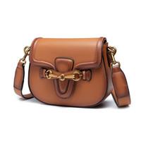 Wholesale big button cell phones for sale - Group buy Designer Handbags cross body big saddle bags shoulder Purses Messenger Bag